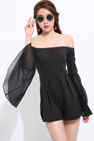 Off Shoulder Playsuit 1514