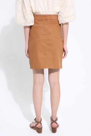 Linen Midi Skirt 1511 - ample-couture