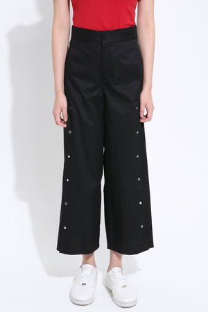 Front Buckle Midi Pant 1498 Black / S Bottoms