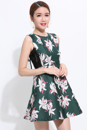 Floral Print Dress 1536 - ample-couture
