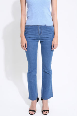 Bell Bottom Denim Pant 1540 - ample-couture