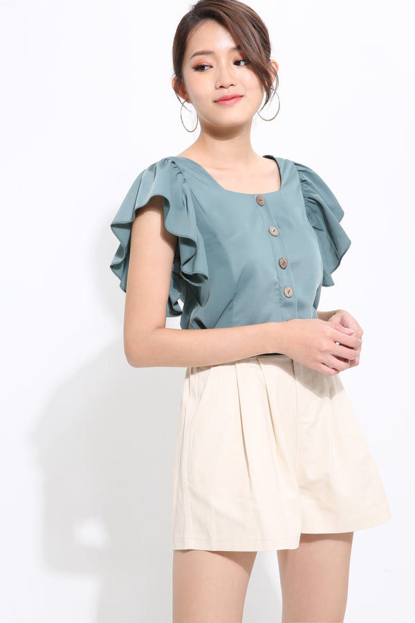 Middle Button Blouse 1567