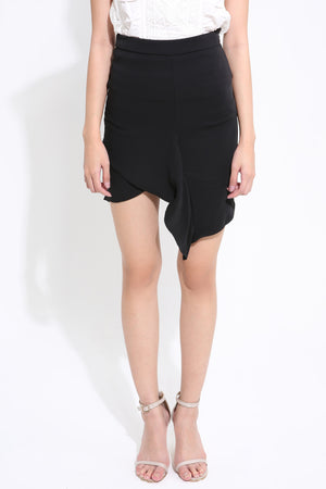 Side Zip Plain Skirt 1551 - ample-couture