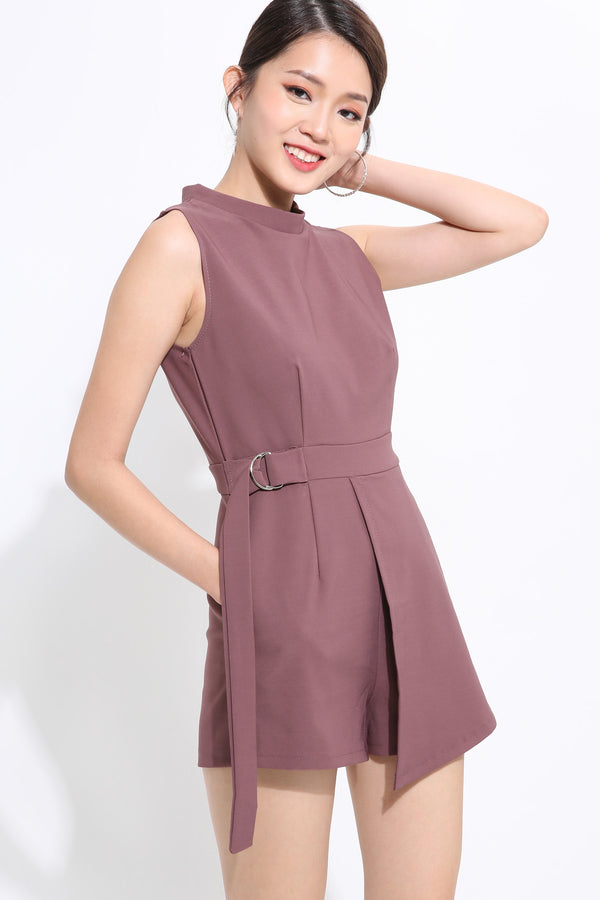 Sleeveless Belted Paysuit 1549