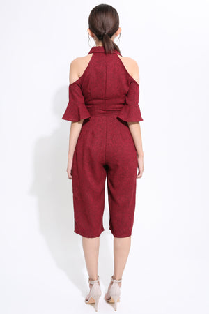 Open Shoulder Jumpsuit 1557 - Ample Couture