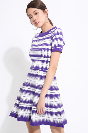 Knit Printed Dress 1545 - Ample Couture