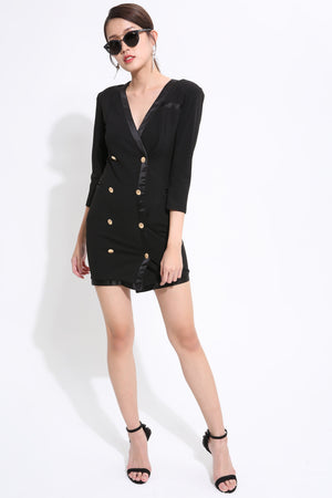 Button Down Coat Dress 1543 - ample-couture