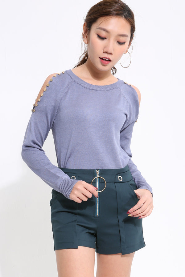 Beading Knit Top 1631