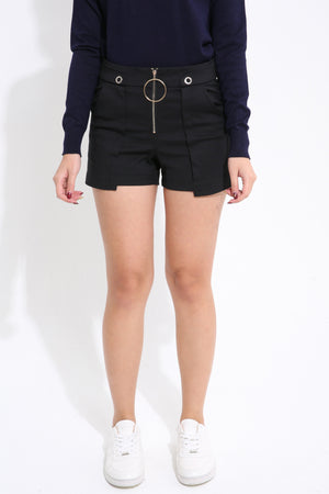 Front Zip Short Pant 1628 - ample-couture