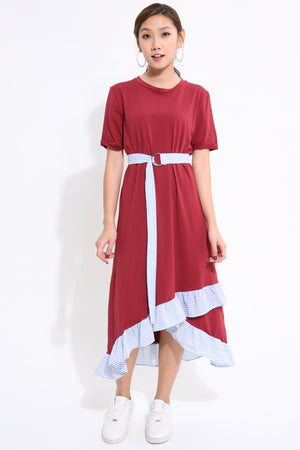Stripes Overlay Dress 1633