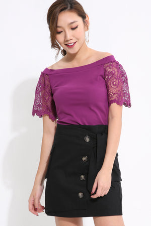 Off Shoulder Lace Top 1582 - Ample Couture