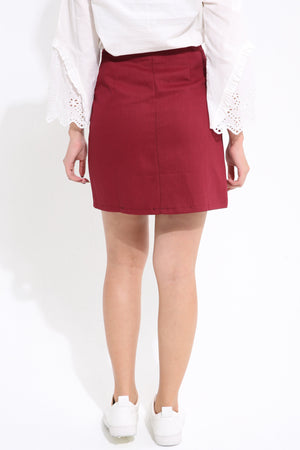 Button Skirt 1606 - Ample Couture