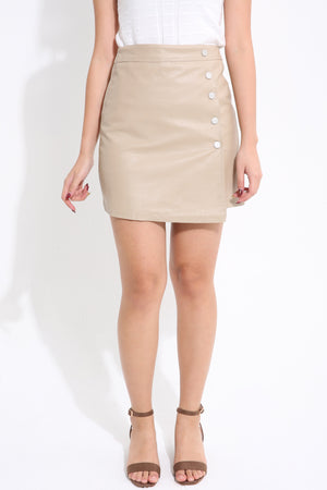 Side Button Skirt 1565 - ample-couture