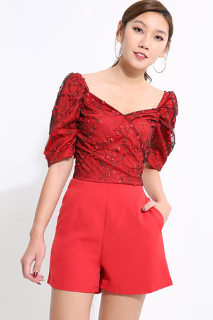 Embroidery Lace Playsuit 1600