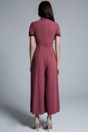 Mandarin Colar Jumpsuit 1724 - Ample Couture