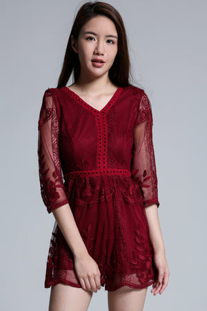 Lace Playsuit 1690 - Ample Couture