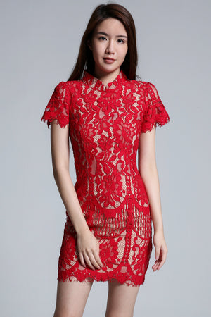 Cheongsam Lace Dress 1734 - Ample Couture