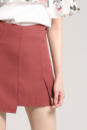 Plain Zip Skirt Pant 2027 - ample-couture