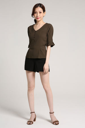 V-Neck Blouse 2024 - ample-couture
