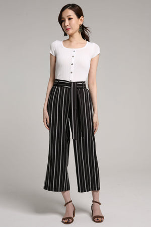 Stripe Wrap Sash Pants 2100