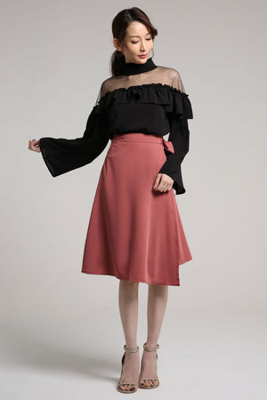 High Neck Ruffled Top 2103 - ample-couture