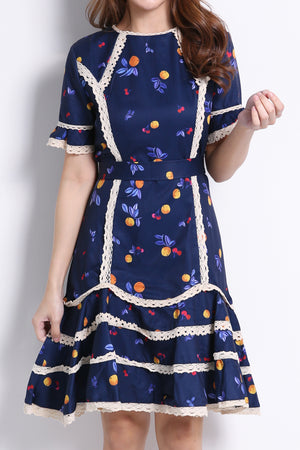 Citrus Cherry Dress 10075