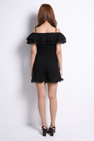 Cut Off Shoulder Playsuit 10050
