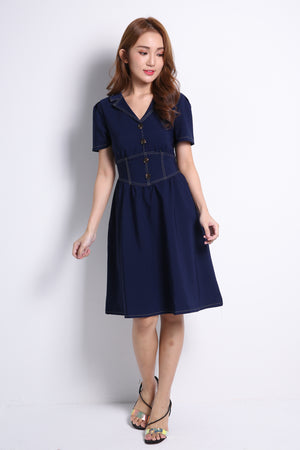 Short Sleeve Dress 10056