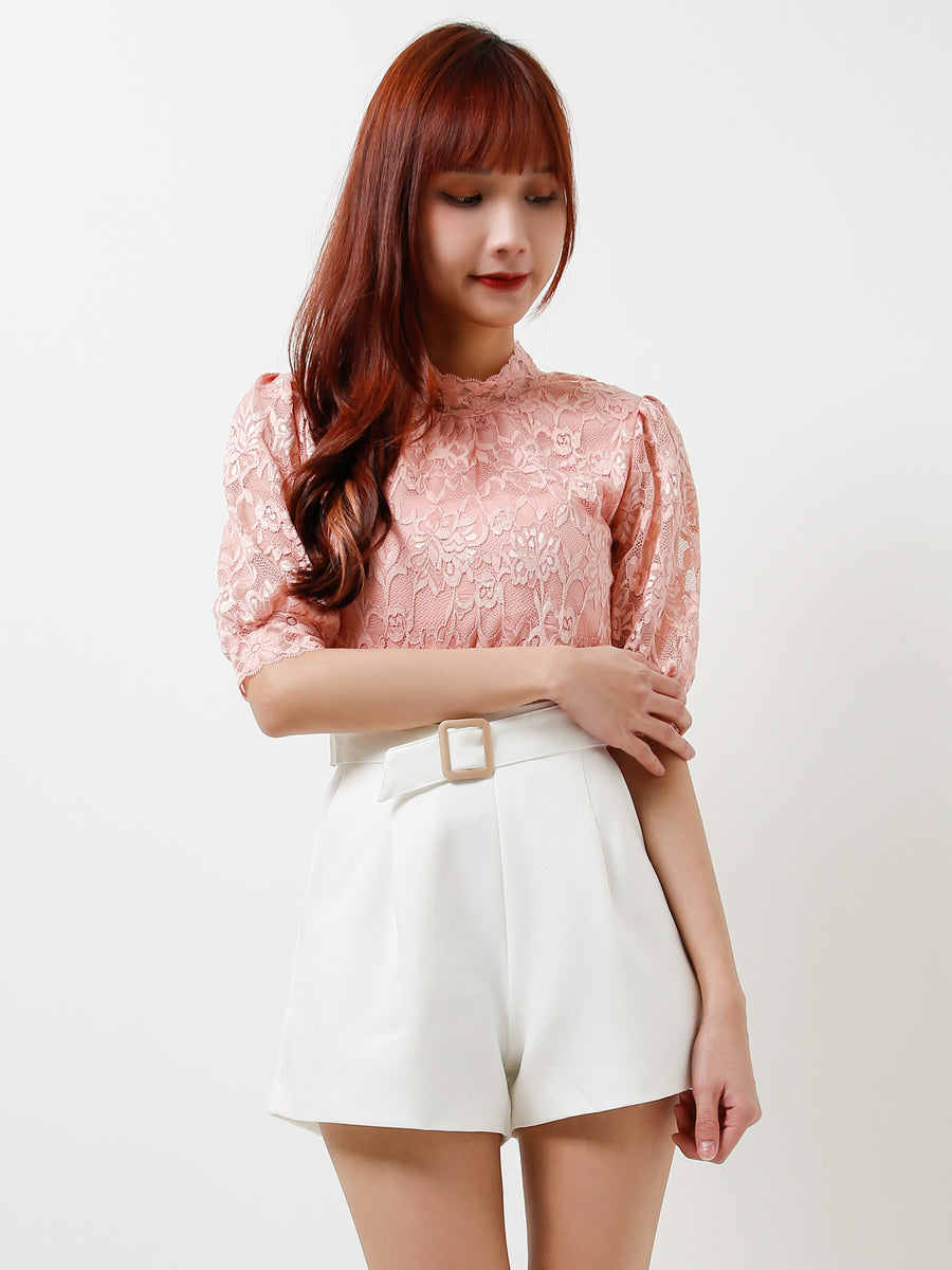 Waist Belt Short Pants 12106