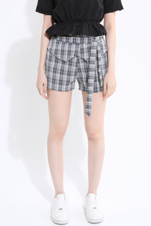Grid Print Short Pant 1372 - ample-couture