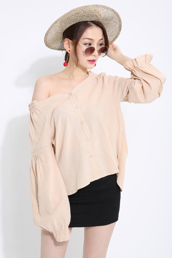 Off Shoulder Top 1430 Cream Tops
