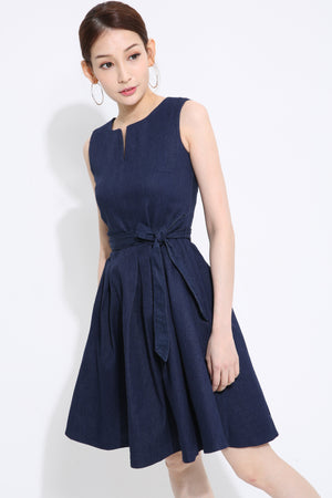 Denim Flare Dress 1414 Dresses