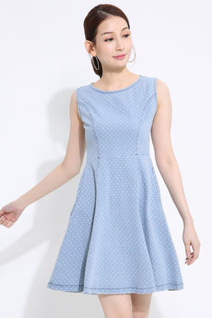 Polka Dot Flare Dress 1412 - ample-couture
