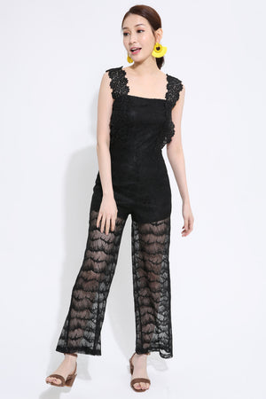Mesh Lace Jumpsuit 1433 - ample-couture
