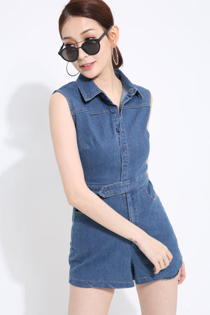 Denim Playsuit 1418 - Ample Couture