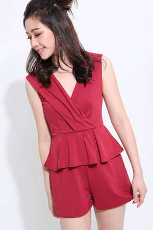 V-Neck Playsuit 1450 - Ample Couture