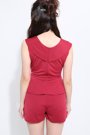 V-Neck Playsuit 1450 - ample-couture