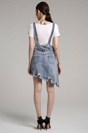 Denim Braces Skirt 2158