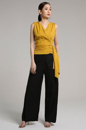 Detailed V-Neck Top 2166 - ample-couture