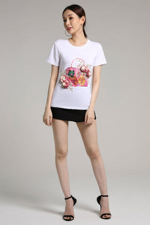 Floral Graphic Tee 2167