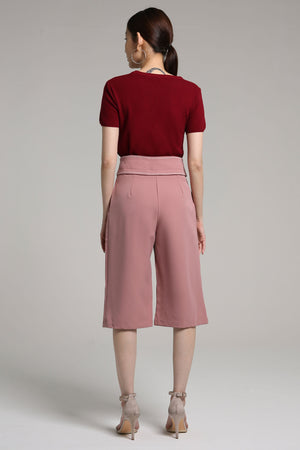 Tie-Detailed Culottes 2179 - ample-couture