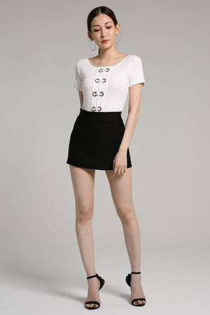 Metal Ring Top 2180 - ample-couture
