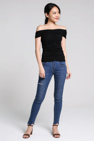 Off Shoulder Basic Top 2207 - ample-couture