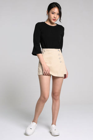 Button Short Skirt Pants 2238