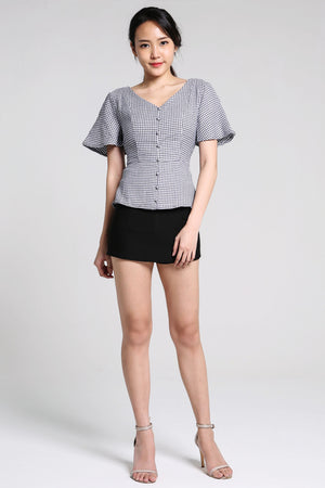 Checker Blouse 2211 - ample-couture