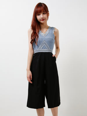 V Neck Jumpsuit 12095