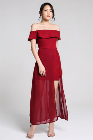 Off Shoulder Long Dress 2227 - ample-couture