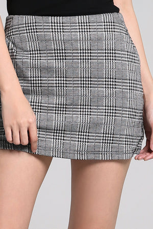 Checker Short Skirt Pants 2246