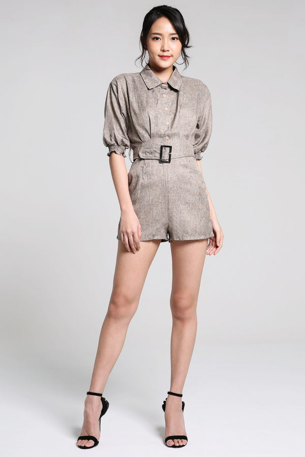 Collar Button Playsuit 2235