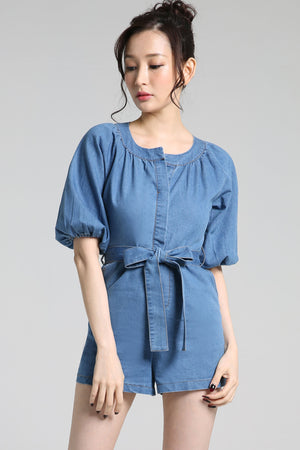 Denim Belted Playsuit 2252